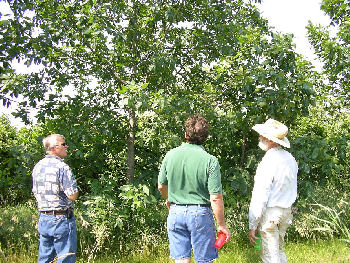 The WETCC Extension staff and partnering landowners visit BRF.